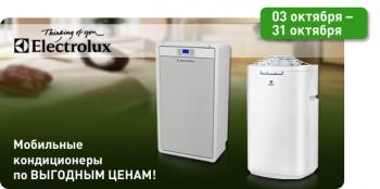 Акция! Мобильные кондиционеры Electrolux по доступной цене!