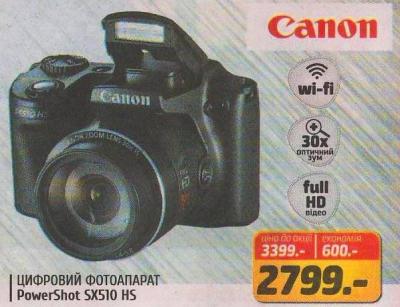 Скидка на фотоаппарат Canon