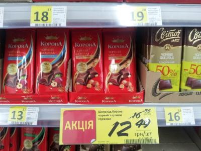 Скидка на шоколад Корона