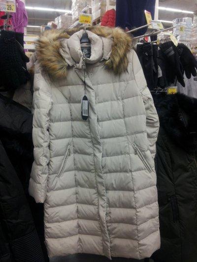 Женское пальто-пуховик со скидкой