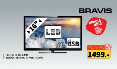 Выгодная цена на телевизор Бравис