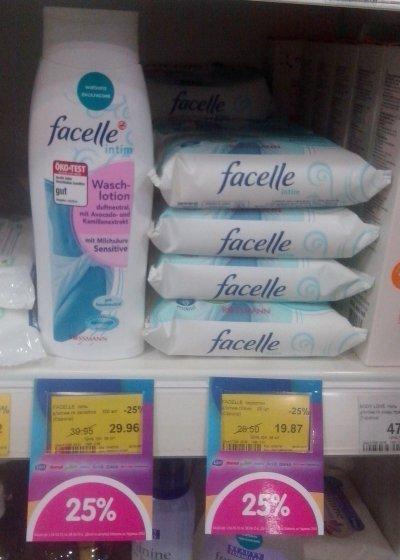 Средства для интимной гигиены Facelle со скидкой в магазине Watsons