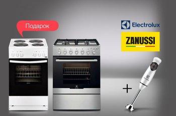 К плитам ELECTROLUX и ZANUSSI - блендер в подарок