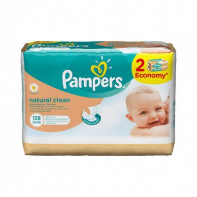 Влажные салфетки для детей Pampers с лосьоном 2/64 шт по скидке!