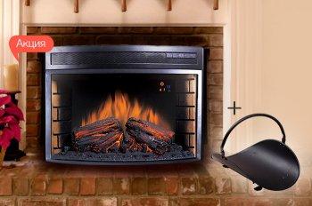 К акционным электрокаминам Royal Flame - корзина для дров в подарок!