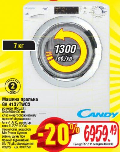 Стиральные машины Candy по сниженной цене!