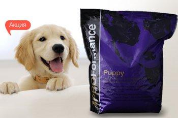 Скидка 100 грн на сухой корм для щенков PROFormance Puppy со вкусом курицы 15 кг!