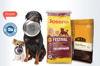 Бесплатная доставка акционных кормов для собак по всей Украине!