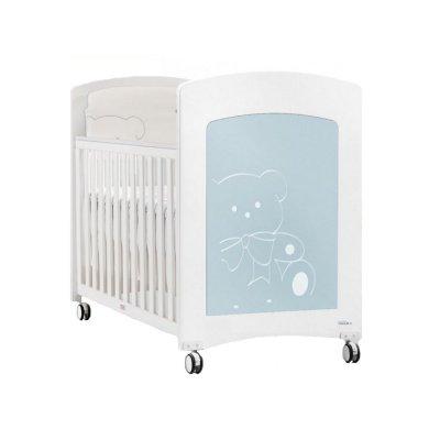 Низкая цена на детскую кроватку Trama Kiaro Branco/Azul Brilho!