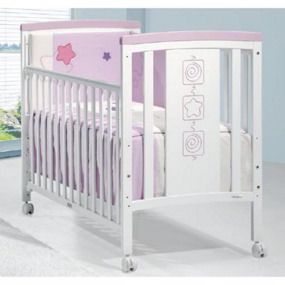 Скидки на детскую кроватку Fantasy Blanco mate/Malva