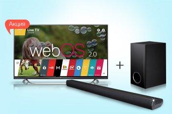 К телевизору LG 40UF771V - саундбар LG в подарок!