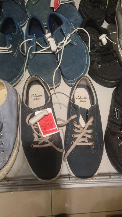 Мужские туфли Clarks на шнурках со скидкой