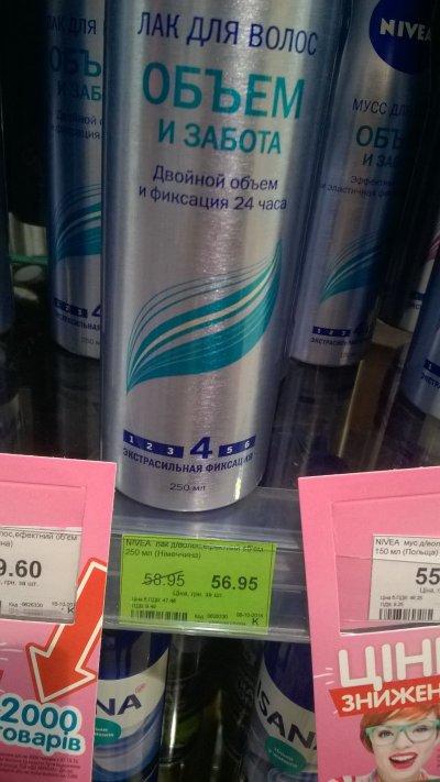Сниженная цена на лак для волос Нивеа
