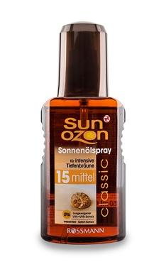 Солнцезащитное масло Sun Ozon Classic фактор защиты SPF15
