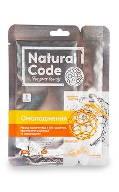Маска для обличчя та шиї Natural Code Омолоджуюча 30+