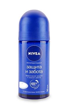 Кульковий дезодорант Nivea Захист і турбота