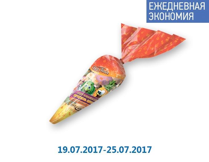 Зефир Жевательный «Фруктель микс», ароматизированный ТМ «Своя Лінія» - 200 г