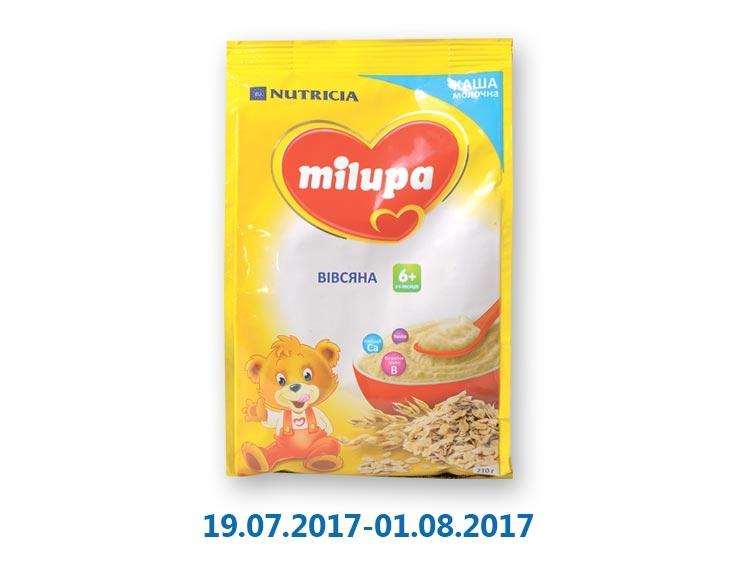 Каша молочная быстрорастворимая, овсяная ТМ «Milupa» - 210 г