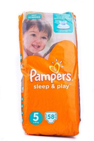 Подгузники PAMPERS Sleep & Play 5 по акционной цене