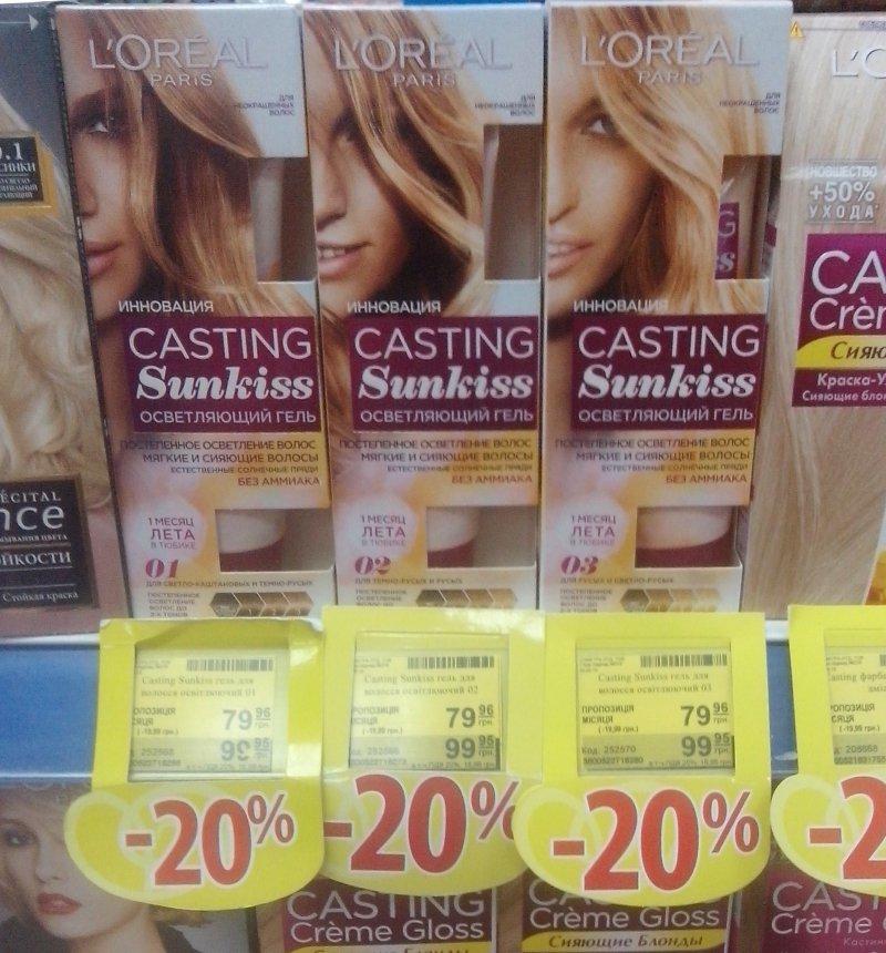 Гель-краска для волос лореаль