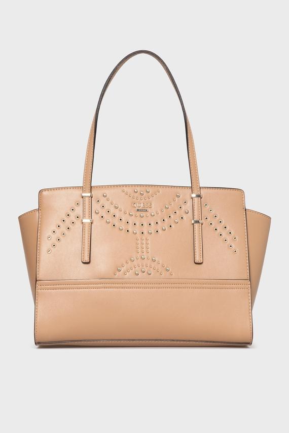 69412f3f232d Женская бежевая сумка на плечо Guess купить со скидкой / Guess ...