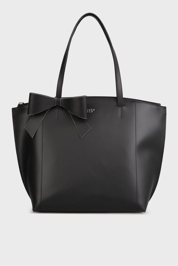 Женская черная кожаная сумка на плечо Tosca Blu купить со скидкой ... 0e2d9767e92