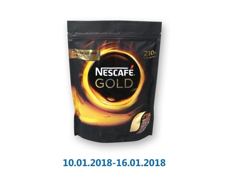 Кофе «Gold», растворимый сублимированный ТМ «Nescafe» - 210 г