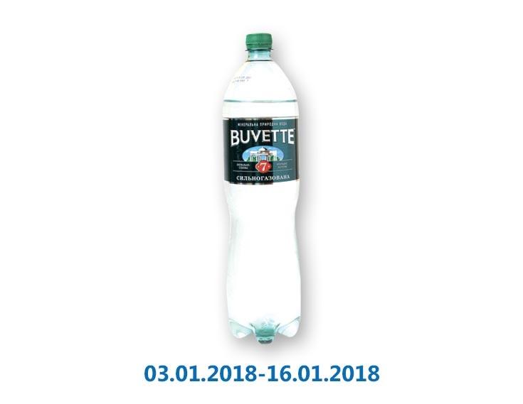 Вода лечебно-столовая №7 сильногазированная ТМ «Buvette» - 1,5 л