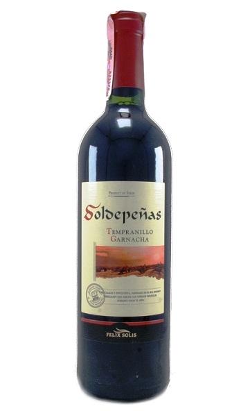 Акция на испанское вино Soldepenas в ассортименте
