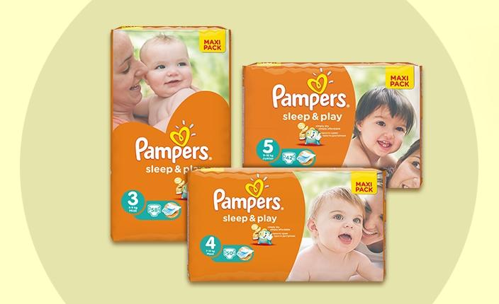 Подгузники Pampers Sleep & Play со скидкой 20%!