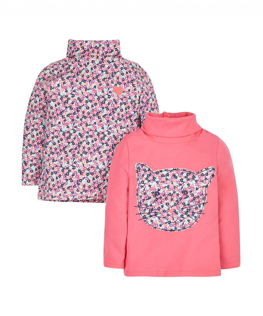 Теплый гольф для девочки Roll Neck Tops - 2 Pack (Mothercare)