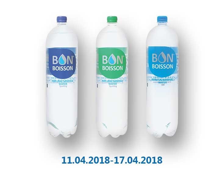 Вода «Днепропетровская», минеральная негазированная/ слабогазированная/ слабогазированная ТМ «Бон Буассон» - 2 л