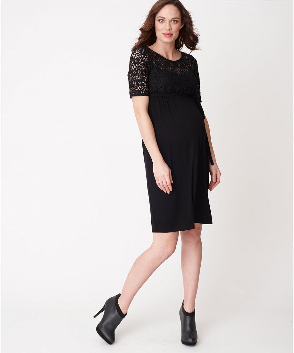 Чорна сукня з мереживом для матусь (Mothercare)