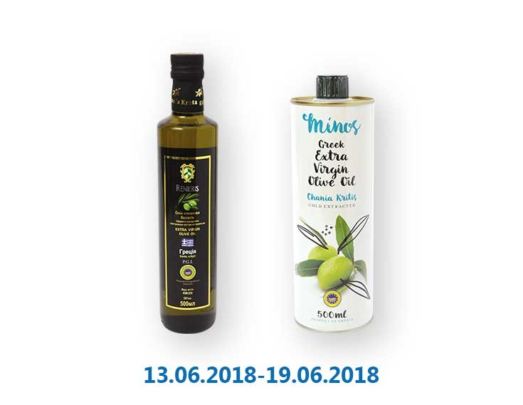 Масло оливковое Extra Virgin ТМ «Renieris»/«Minos» - 500 мл
