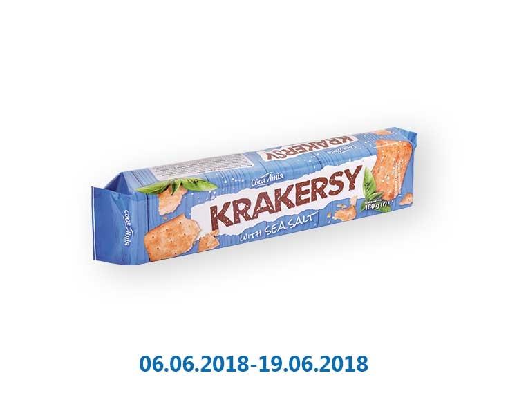 Крекер «Krakersy» солёный «Своя Лінія» - 180 г