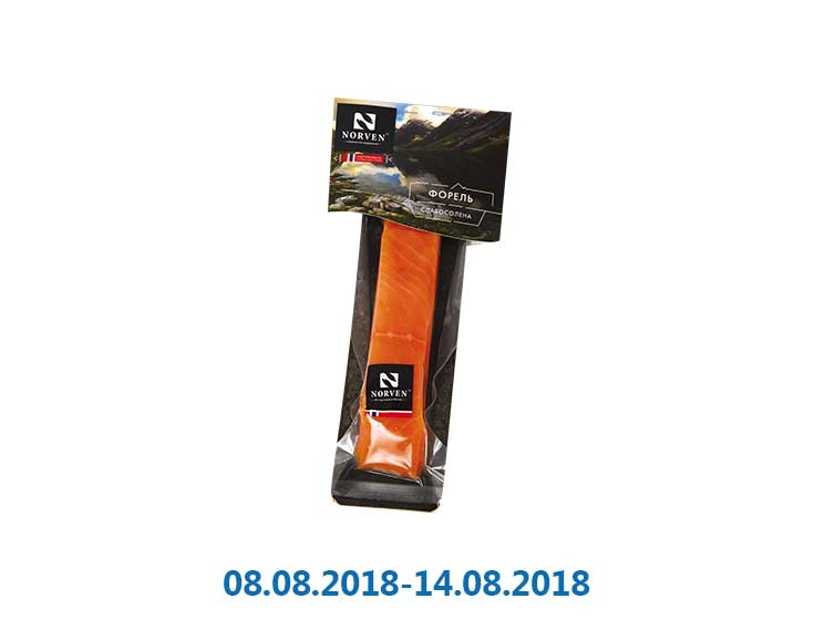 Форель филе-кусок, cлабосолёная ТМ «Norven» - 130 г