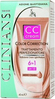 Clinians Color Correction CC Cream (Маскирующее средство 6в1 CC Cream SPF 15)