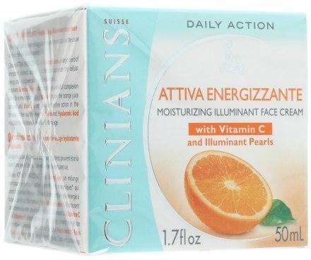Крем для лица увлажняющий с витаминами С и Е (Clinians Attiva Energizzante Vitamina Cream)