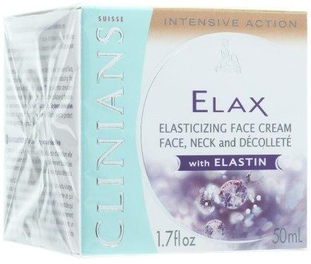 Крем-лифтинг для лица, шеи и декольте с эластином (Clinians Elax Elasticizing Face Cream With Elastin)