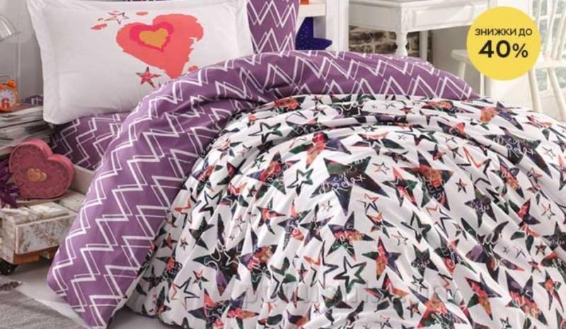 Розетка дарит скидки до 40% на текстиль для спальни Hobby!
