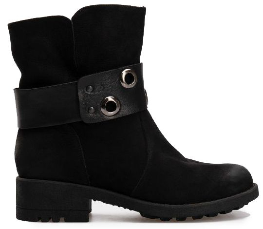 Ботинки женские Ботинки 7011-230 чорний нубук. Вовна 7011-230