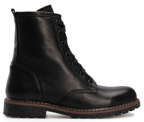 Ботинки женские Ботинки 2916-0 черная кожа. Флис 2916-0