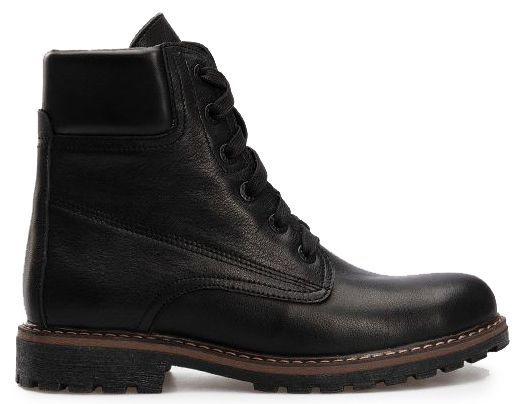 Ботинки женские Ботинки 385 чорная кожа. Флис 385