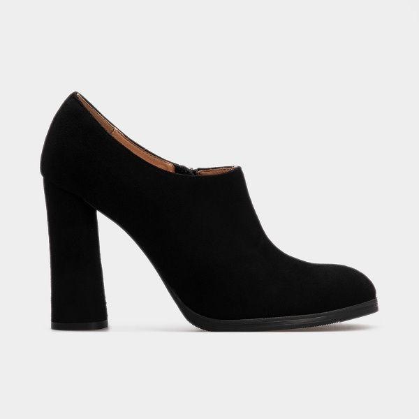 Туфли женские Ботильоны 2113-110 черная замша 2113-110