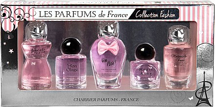 Charrier Parfums Collection Fashion (Набор (edp/12ml+edp/10.5ml+edp/9.3ml+edp/8.5ml+edp/9.4ml))