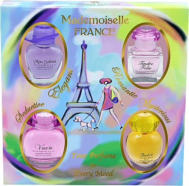 Charrier Parfums Mademoiselle France (Набор (edp/11ml+edp/10.1ml+edp/13.5ml+edp/9.5ml))