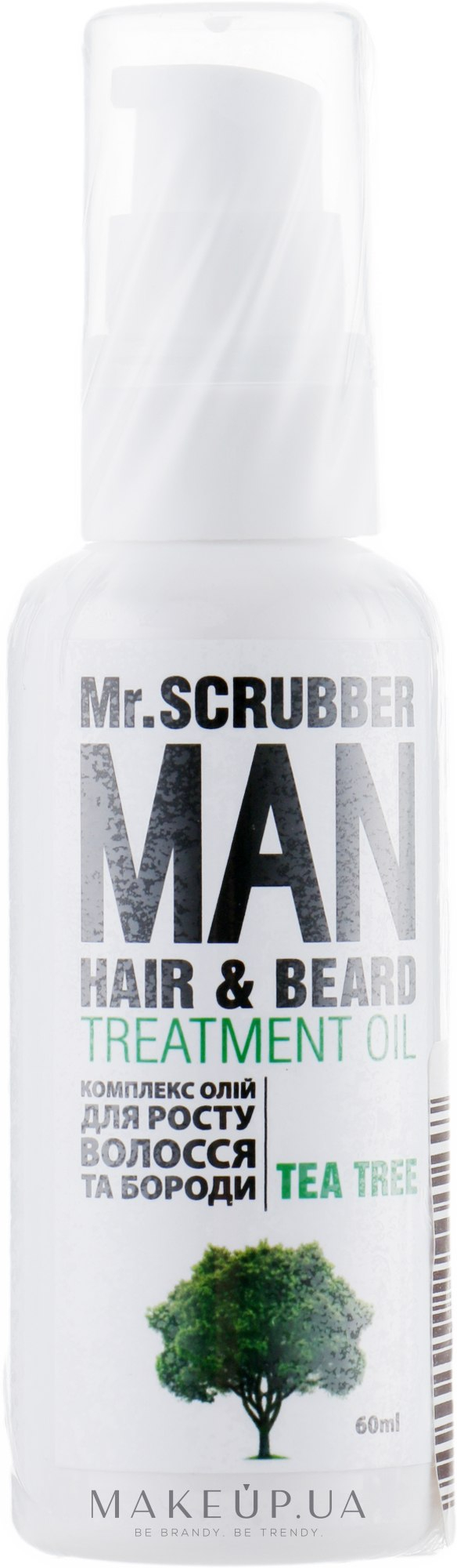 Комплекс масел для роста волос и бороды (Mr.Scrubber Man Tea Tree Hair&Beard Treatment Oil)