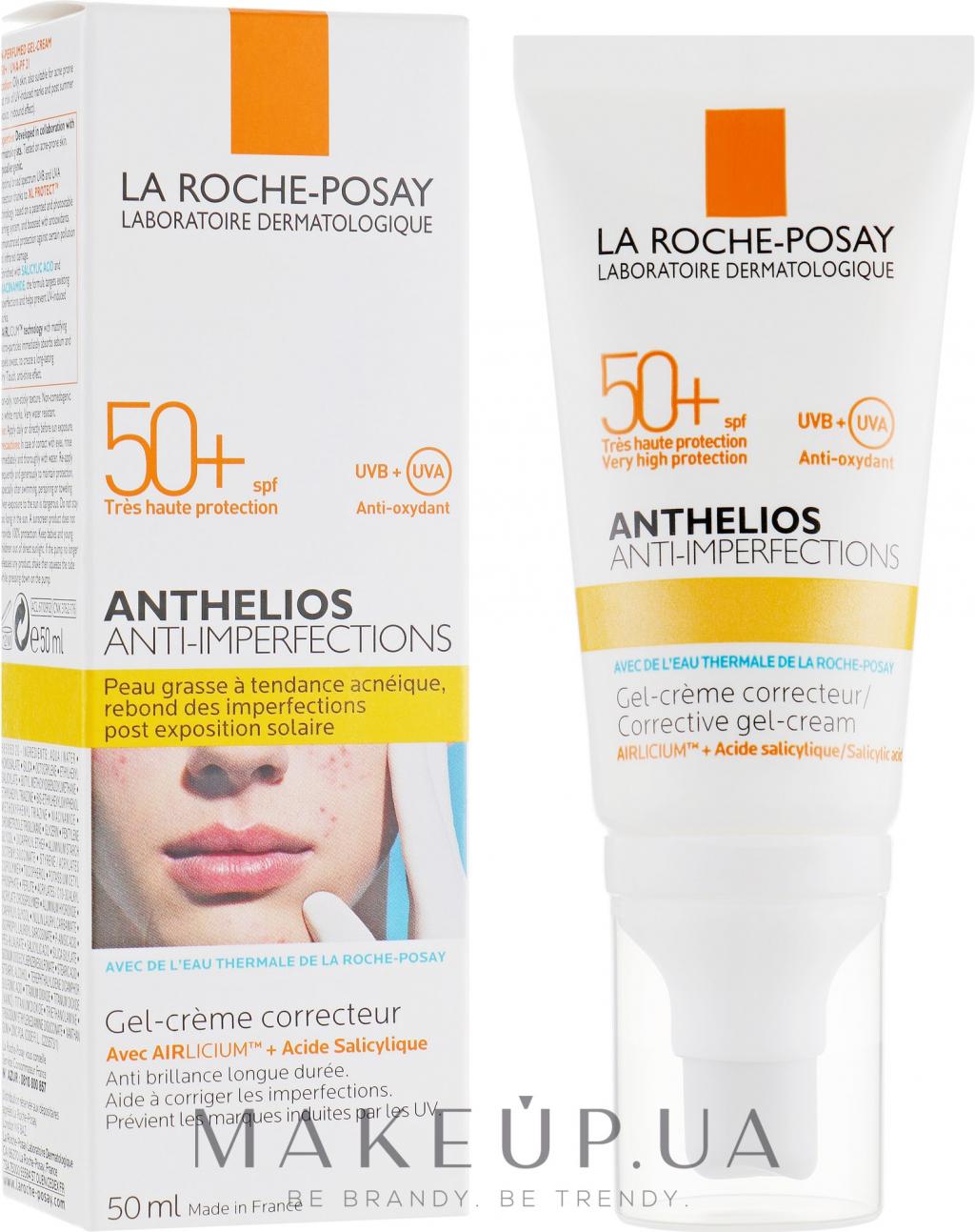 Солнцезащитный корректирующий крем-гель для жирной проблемной кожи (La Roche-Posay Anthelios Corrective Gel-Cream SPF 50)