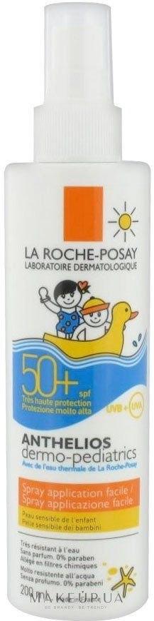 Солнцезащитный спрей для чувствительной кожи детей SPF50+ (La Roche-Posay Anthelios Dermo-Pediatrics SPF 50+ Easy Application Spray)