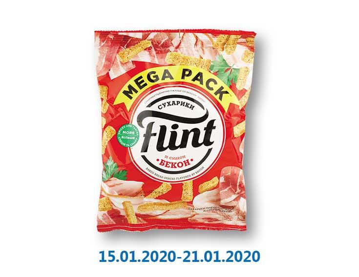 Сухaрики пшенично-ржаные со вкусом бекона ТМ «Flint» - 120 г